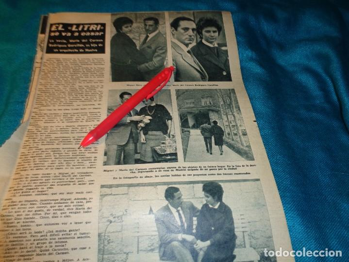 RECORTE : BODA DEL TORERO, EL LITRI. HOLA, DCMBRE 1962(#) (Coleccionismo - Revistas y Periódicos Modernos (a partir de 1.940) - Revista Hola)