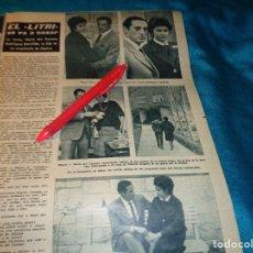 Coleccionismo de Revista Hola: RECORTE : BODA DEL TORERO, EL LITRI. HOLA, DCMBRE 1962(#). Lote 268871734