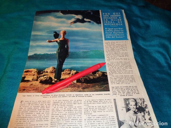 RECORTE : TIPPI HEDREN, LA MUJER IDEAL DE HITCHCOCK. HOLA, SPTMBRE 1963(#) (Coleccionismo - Revistas y Periódicos Modernos (a partir de 1.940) - Revista Hola)