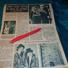 Coleccionismo de Revista Hola: RECORTE : ¿COMO ESCAPO GOERING DEL VERDUGO?. HOLA, SPTMBRE 1963(#). Lote 268871944