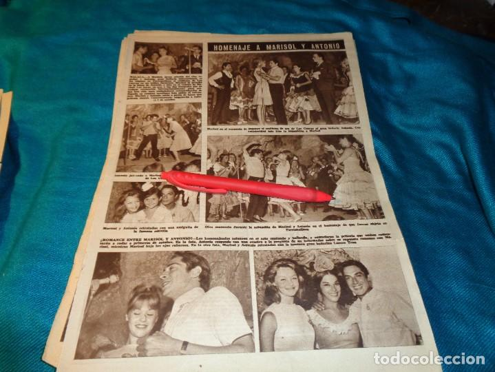 RECORTE : HOMENAJE A MARISOL Y ANTONIO. HOLA, SPTMBRE 1963(#) (Coleccionismo - Revistas y Periódicos Modernos (a partir de 1.940) - Revista Hola)