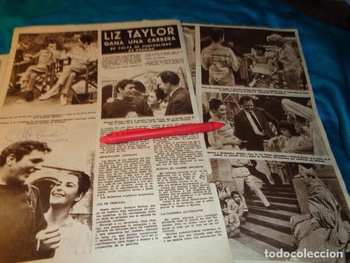 RECORTE : LIZ TAYLOR, ES IMPUNTUAL. HOLA, SPTMBRE 1963(#) (Coleccionismo - Revistas y Periódicos Modernos (a partir de 1.940) - Revista Hola)