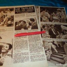 Coleccionismo de Revista Hola: RECORTE : LIZ TAYLOR, ES IMPUNTUAL. HOLA, SPTMBRE 1963(#). Lote 268872259