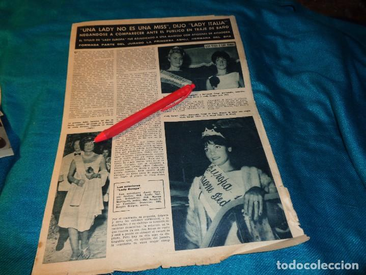 RECORTE : LADY EUROPA Y LADY ITALIA. HOLA, SPTMBRE 1963(#) (Coleccionismo - Revistas y Periódicos Modernos (a partir de 1.940) - Revista Hola)