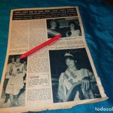 Coleccionismo de Revista Hola: RECORTE : LADY EUROPA Y LADY ITALIA. HOLA, SPTMBRE 1963(#). Lote 268872459