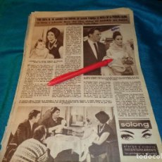 Coleccionismo de Revista Hola: RECORTE : LIZ TAYLOR, PUEDE PERDER LA TUTELA DE SU HIJA MARIA. HOLA, ABRIL 1963(#). Lote 268962674