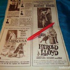 Coleccionismo de Revista Hola: RECORTE : PUBLICIDAD PELICULA : EL MUNDO COMICO DE HAROLD LLOYD. HOLA, ABRIL 1963(#). Lote 268963059