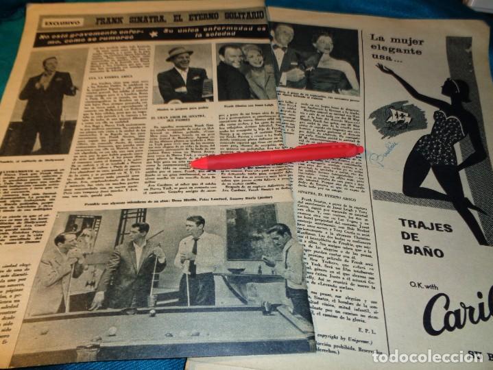 RECORTE : FRANK SINATRA, EL ETERNO SOLITARIO. HOLA, ABRIL 1963(#) (Coleccionismo - Revistas y Periódicos Modernos (a partir de 1.940) - Revista Hola)