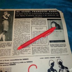 Coleccionismo de Revista Hola: RECORTE : LA CANTANTE FRANCESA FRANÇOISE HARDY. HOLA, ABRIL 1963(#). Lote 268963194