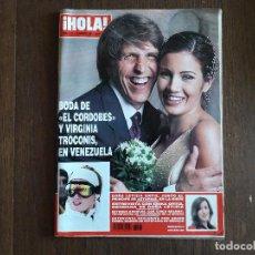 """Coleccionismo de Revista Hola: REVISTA HOLA, NÚMERO 3107, 19 FEBRERO 2004, BODA DE """"EL CORDOBÉS"""" Y VIRGINIA TROCCONIS, EN VENEZUELA. Lote 269336403"""
