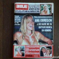 Coleccionismo de Revista Hola: REVISTA HOLA, NÚMERO 3081, 28 DE AGOSTO DE 2003, FOTOS Y DECLARACIONES EXCLUSIVAS ANA OBREGÓN.. Lote 269336438