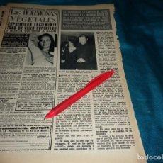 Coleccionismo de Revista Hola: RECORTE : LIZ TAYLOR, ABANDONA SU CARRERA. HOLA, MARZO 1972(#). Lote 269349363