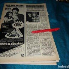 Coleccionismo de Revista Hola: RECORTE : GEORGE HARRISON Y SU ESPOSA, A PUNTO DE MORIR. HOLA, MARZO 1972(#). Lote 269349428