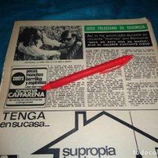 Coleccionismo de Revista Hola: RECORTE : JOSE FELICIANO, SE DIVORCIA. HOLA, MARZO 1972(#). Lote 269349613