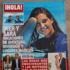 Coleccionismo de Revista Hola: HOLA REVISTA 3.803 IKER Y SARA.BODAS DE VICTOR VALDES.MICHEL.MESSI Y ANTONELLA VICTORIA DE SUECIA... Lote 269788283