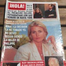 Coleccionismo de Revista Hola: HOLA Nº 2675 AÑO 1995. NINA. BODA LORETO VALVERDE. PRINCIPE FELIPE Y GIGI HOWARD.Y MÁS. Lote 270663328