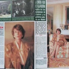 Coleccionismo de Revista Hola: RECORTE REVISTA HOLA Nº 2393 1990 ALICIA KLEIN 5 PGS. Lote 270885788