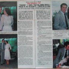 Coleccionismo de Revista Hola: RECORTE REVISTA HOLA Nº 1919 1981 ISABEL PANTOJA Y PAQUIRRI 6 PGS. Lote 270886083