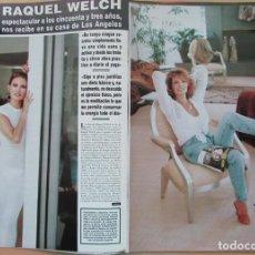 Coleccionismo de Revista Hola: RECORTE REVISTA HOLA Nº 2569 1993 RAQUEL WELCH 5 PGS. Lote 270886838