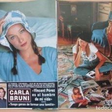 Coleccionismo de Revista Hola: RECORTE REVISTA HOLA Nº 2569 1993 CARLA BRUNI 7 PGS. Lote 270887388