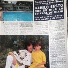 Coleccionismo de Revista Hola: RECORTE REVISTA HOLA Nº 2569 1993 CAMILO SESTO. EDDIE MURPHY Y NICOLE MITCHELL. Lote 270887548