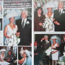 Coleccionismo de Revista Hola: RECORTE REVISTA HOLA Nº 2569 1993 JAMES COBURN, PAULA MURAD 3 PGS. Lote 270887818