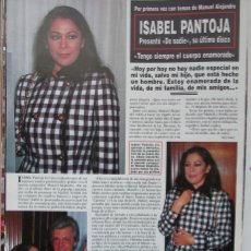 Coleccionismo de Revista Hola: RECORTE REVISTA HOLA Nº 2569 1993 ISABEL PANTOJA. Lote 270888093