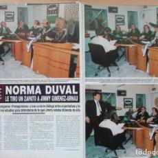 Coleccionismo de Revista Hola: RECORTE REVISTA HOLA Nº 2569 1993 NORMA DUVAL. 2 ARTÍCULOS 5 PGS. Lote 270888143