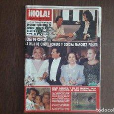Coleccionismo de Revista Hola: REVISTA HOLA, NÚMERO 2301, 22 DE SETIEMBRE DE 1988, BODA DE CONCHA ROMERO.. Lote 272087938