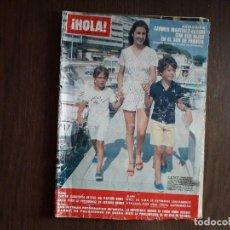 Coleccionismo de Revista Hola: REVISTA HOLA, NÚMERO 1879, 30 DE AGOSTO DE 1980, CARMEN MARTÍNEZ-BORDIU CON SUS HIJOS EN FRANCIA.. Lote 272481273