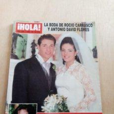 Coleccionismo de Revista Hola: REVISTA HOLA. 2696. LA BODA DE ROCIO CARRASCO Y ANTONIO DAVID FLORES. B3R. Lote 274924833