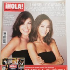 Coleccionismo de Revista Hola: REVISTA HOLA Nº 3659 ISABEL PREYSLER CARMEN MARTÍNEZ BORDIÚ TWIGGY SOPHIA LOREN SHAKIRA NATY ABASCAL. Lote 275296968