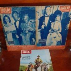 Colecionismo da Revista Hola: LOTE DE 3 REVISTAS ¡HOLA!. AÑOS 60. VER FOTOS.. Lote 275760883