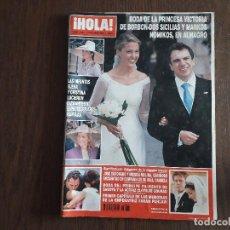 Coleccionismo de Revista Hola: REVISTA HOLA, NÚMERO 3087, 9 OCTUBRE DE 2003. BODA DE LA PRINCESA VICTORIA DE BORBÓN-DOS SICILIAS. Lote 276091593