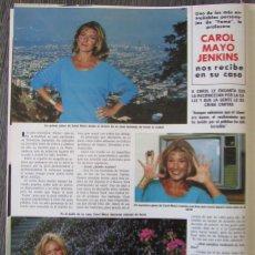 Coleccionismo de Revista Hola: RECORTE REVISTA HOLA N.º 2046 1983 KAROL MAYO JENKINS 2 PGS. Lote 276544108
