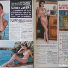 Coleccionismo de Revista Hola: RECORTE REVISTA HOLA N.º 2707 1996 CARMEN JANEIRO. Lote 276559138