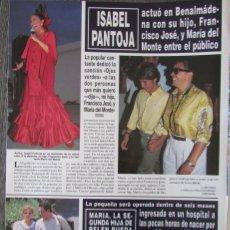 Coleccionismo de Revista Hola: RECORTE REVISTA HOLA N.º 2707 1996 ISABEL PANTOJA. Lote 276559183