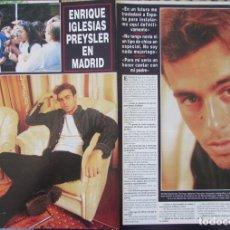 Coleccionismo de Revista Hola: RECORTE REVISTA HOLA N.º 2707 1996 ENRIQUE IGLESIAS. Lote 276559708