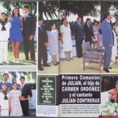 Coleccionismo de Revista Hola: RECORTE REVISTA HOLA N.º 2707 1996 CARMEN ORDÓÑEZ, JULIÁN CONTRERAS. 3 PGS. Lote 276559928