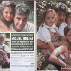 Coleccionismo de Revista Hola: RECORTE REVISTA HOLA N.º 2707 1996 MIGUEL MOLINA 5 PGS. Lote 276560003