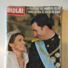 Coleccionismo de Revista Hola: REVISTA HOLA Nº 3122, 3 JUNIO 2004 - EXTRA BODA PRÍNCIPE FELIPE Y LETICIA 366 PÁGINAS. Lote 276735253
