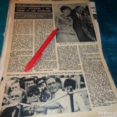 Coleccionismo de Revista Hola: RECORTE : AUDREY HEPBURN, SE DIVORCIA DE MEL FERRER. HOLA, NVMBRE 1968(#). Lote 277069398