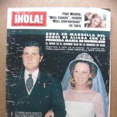 Collectionnisme de Magazine Hola: HOLA Nº 1716 -1977 - PILAR MEDINA MISS ESPAÑA, BODA DUQUE ALIAGA MARIA HOHENLOHE, LINDA CARTER. Lote 277524968
