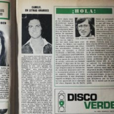 Coleccionismo de Revista Hola: CAMILO SESTO. Lote 277531143