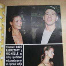Coleccionismo de Revista Hola: EROS RAMAZZOTTI. Lote 277759023