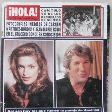 Coleccionismo de Revista Hola: CINDY CRAWFORD. Lote 277761523