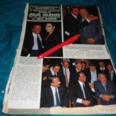 Coleccionismo de Revista Hola: RECORTE : JULIO IGLESIAS, ENCUENTRO CON COMPAÑEROS DEL REAL MADRID. HOLA, NVBRE 1990 (#). Lote 278341963