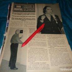 Coleccionismo de Revista Hola: RECORTE : SARA MONTIEL, INTERNADA DE URGENCIAS. HOLA, NVBRE 1990 (#). Lote 278342238