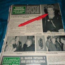 Coleccionismo de Revista Hola: RECORTE : MARCELLE PARMENTIER, LA MUJER DE FELIX RODRIGUEZ DE LA FUENTE. HOLA, NVBRE 1990 (#). Lote 278342378