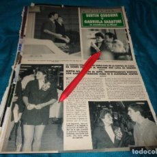 Colecionismo da Revista Hola: RECORTE : BERTIN OSBORNE Y GABRIELA SABATINI. HOLA, NVBRE 1990 (#). Lote 278342543